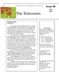 The Extension Newsletter, Issue 84, Fall 2014