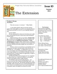 The Extension Newsletter, Issue 83, Summer 2014 by Wright State University Retirees Association