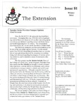 The Extension Newsletter, Issue 81, Winter 2014 by Wright State University Retirees Association
