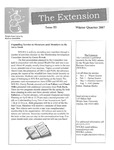 The Extension Newsletter, Issue 53, Winter Quarter 2007