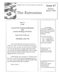 The Extension Newsletter, Issue 67, Summer Quarter 2010 by Wright State University Retirees Association