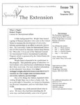 The Extension Newsletter, Issue 78, Spring Quarter 2013 by Wright State University Retirees Association
